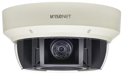Attached 2. Wisenet 'PNM-9081VQ' multi-sensor camera providing 360° view at once