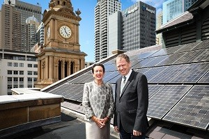Lord Mayor Clover Moore - Ausgrid Head of Asset Investment Matthew Webb
