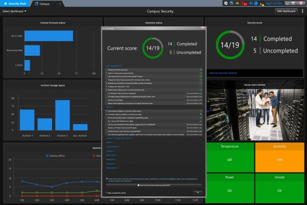 Genetec's Streamvault Dashboard